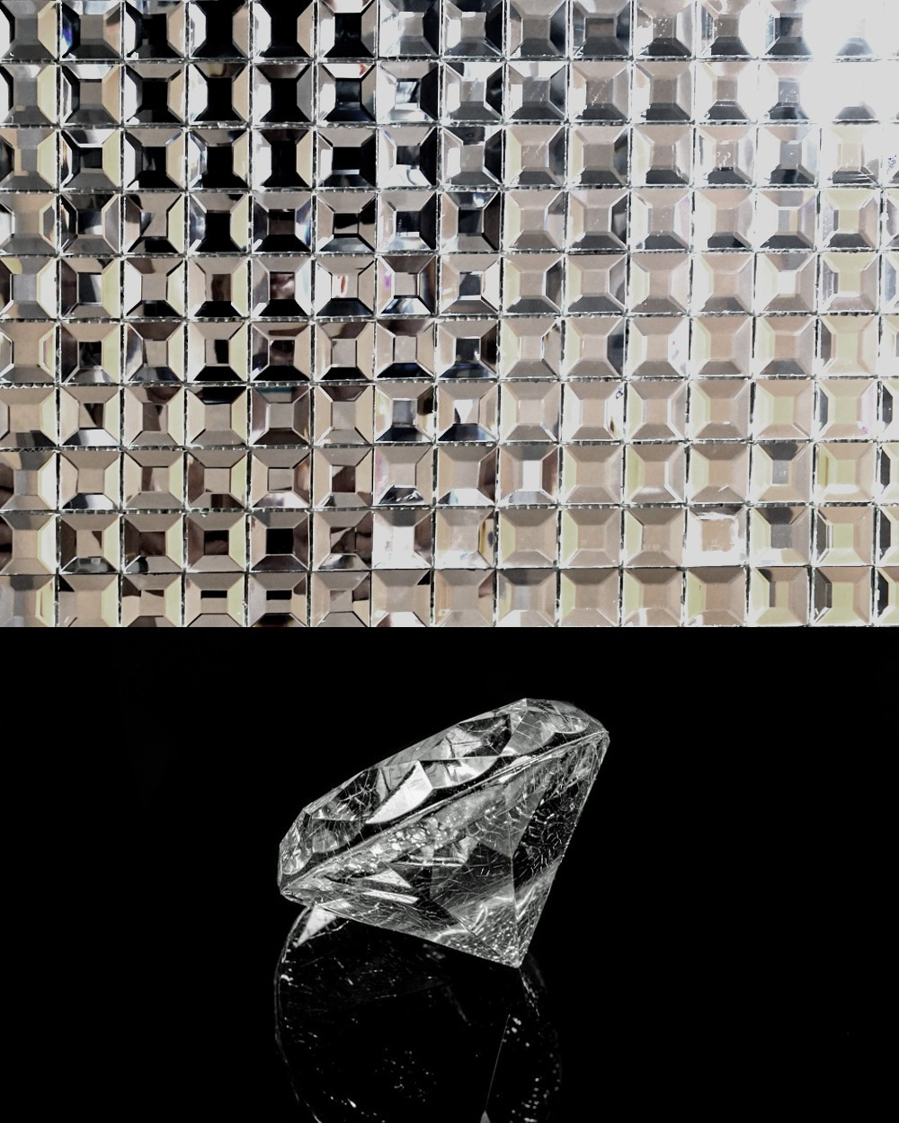 Mosaikfliesen Diamantoptik