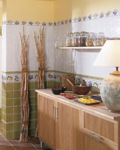 Kleinformatige Wandfliesen weiß Küchenfliesen Landhausstil