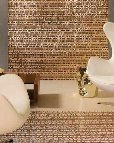 Mosaik Kuper Glasmosaik Braun