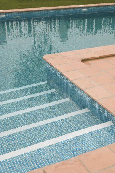 Mosaikfliesen Blau Pool