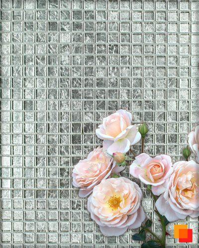 Silbermosaik Fliesen in silber