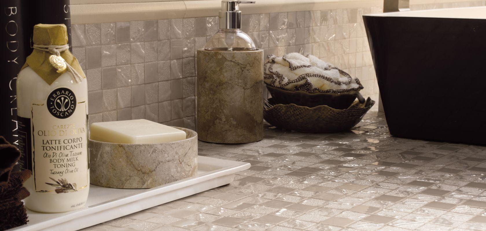 Luxusmosaik glaenzend Exklusives Mosaik Feinsteinzeug