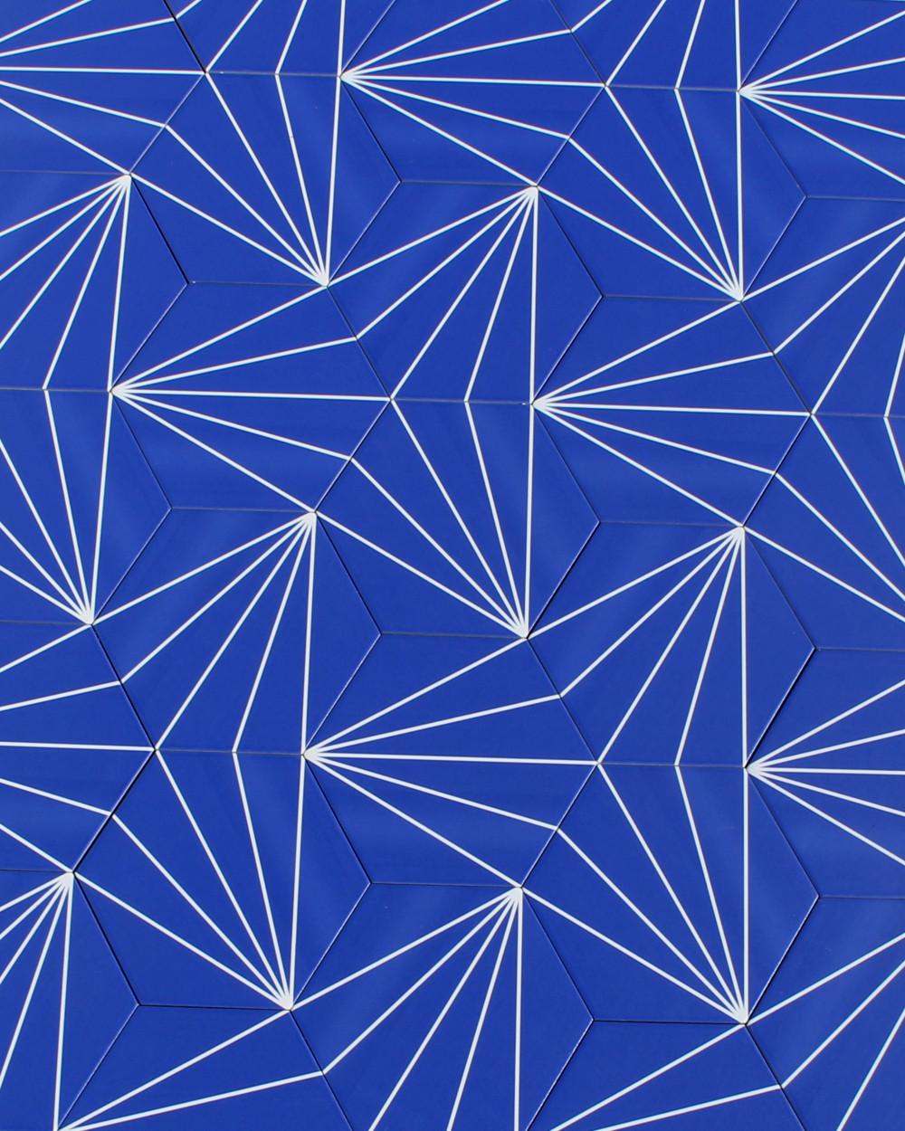 marrakech design fliesen hexagon streifen dekorfliese