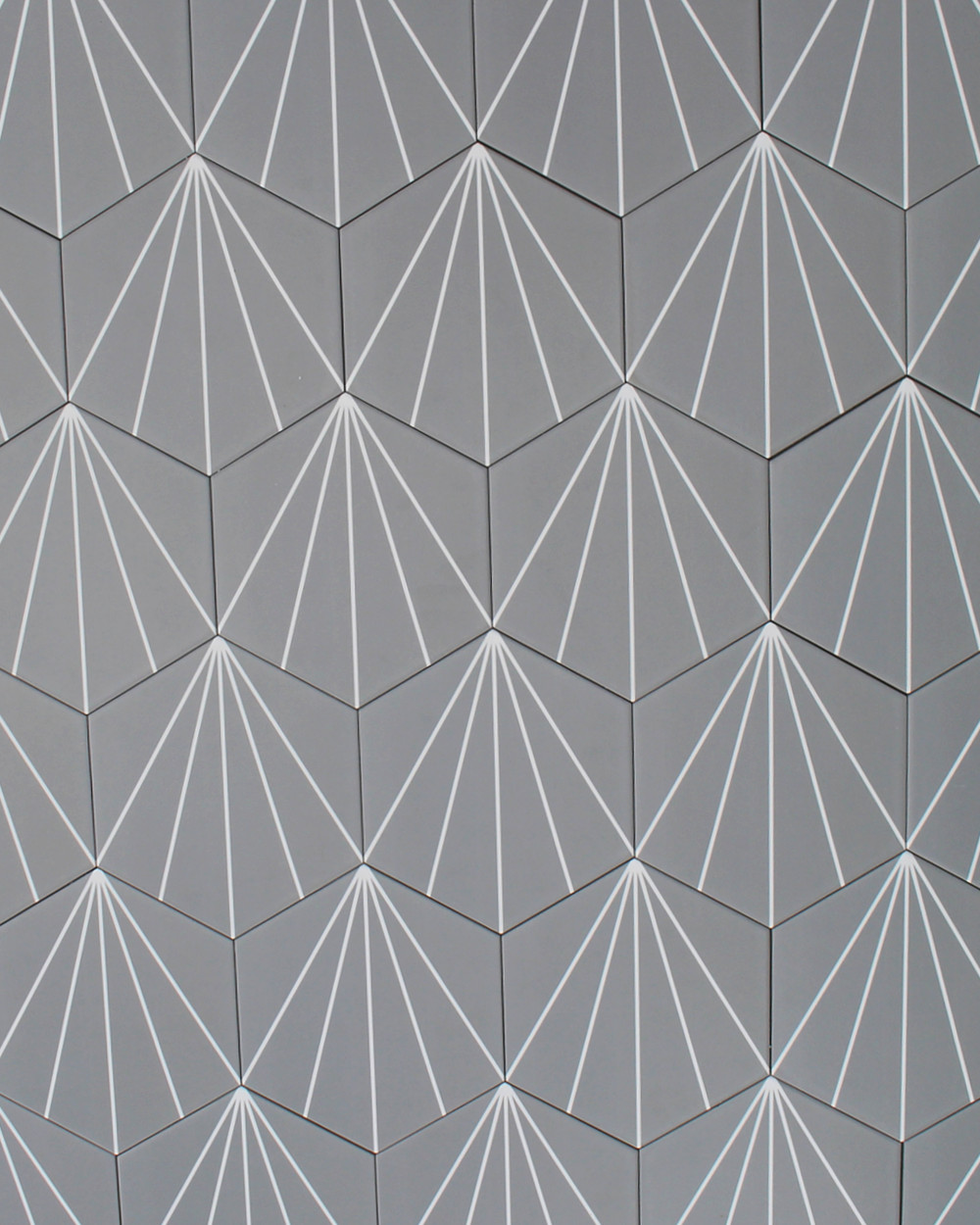geometrische Fliesen grau hexagon