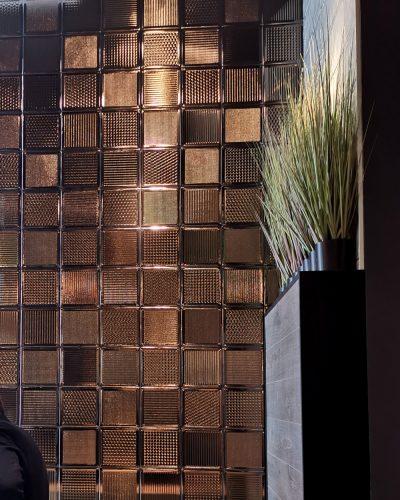 kupfer glasbausteine design fliesen glasbausteine metall design